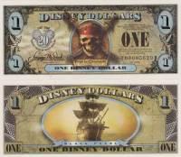 "2007 $1 ""Black Pearl"" Disney Dollar"