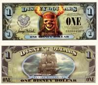 """2007 $1 """"Flying Dutchman"""" Disney Dollar"""