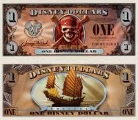 "2007 $1 ""Empress"" Disney Dollar"