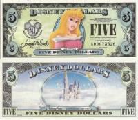 "2007 $5 ""Aurora"" Disney Dollar"