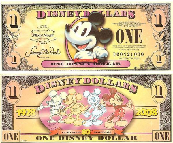 2008 $1 Mickey Circa 1928