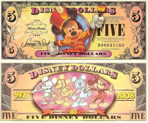 2008 $5 Mickey Circa 1955