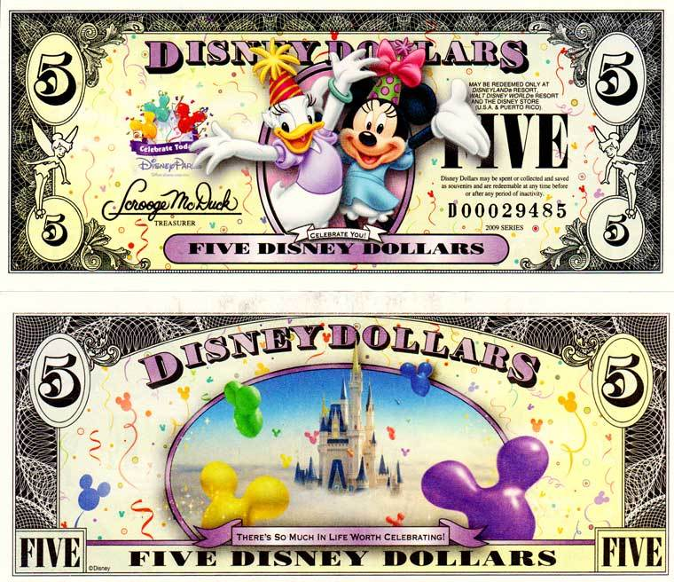 "2009 $5 Daisy Duck and Minnie Mouse  ""Celebrate You"""