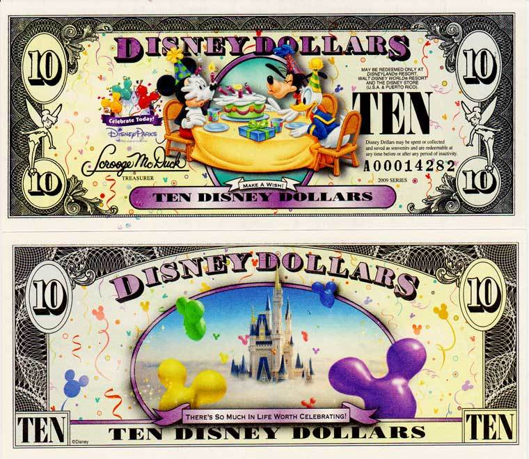 "2009 $10 Donald Duck, Goofy and Mickey making a wish on a Cake  "" Make A Wish"""