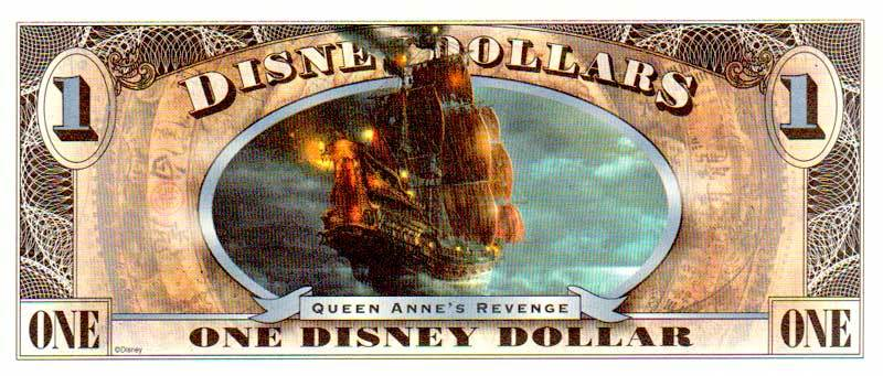 2011 $1 Pirates of the Caribbean: On Stranger Tides Disney Dollar Reverse