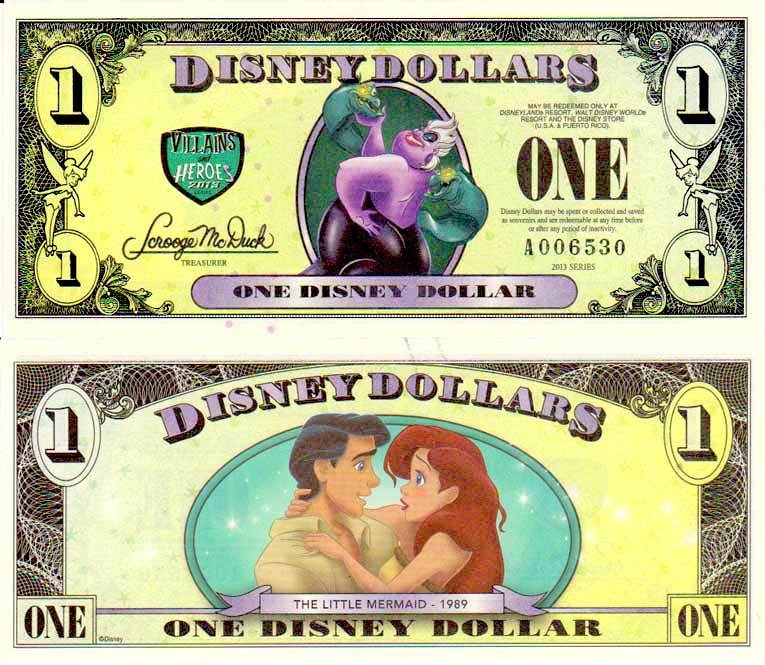 2013 $1 Ursula: The Sea Witch/Princess Ariel and Prince Eric