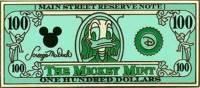 $100 Donald Duck as Benjamin Franklin