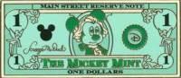 $1 Mickey Mouse as George Washington