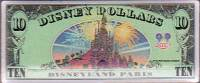2000 $10 Disney Dollar Pin Back