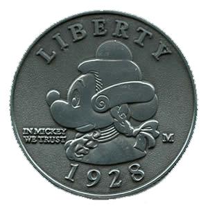 "Lanyard Pin 2008 - ""Mickey Mouse - Washington Coin"""