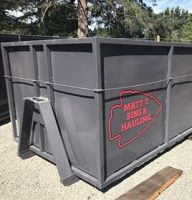Garbage bins for commercial, residential and job-site waste