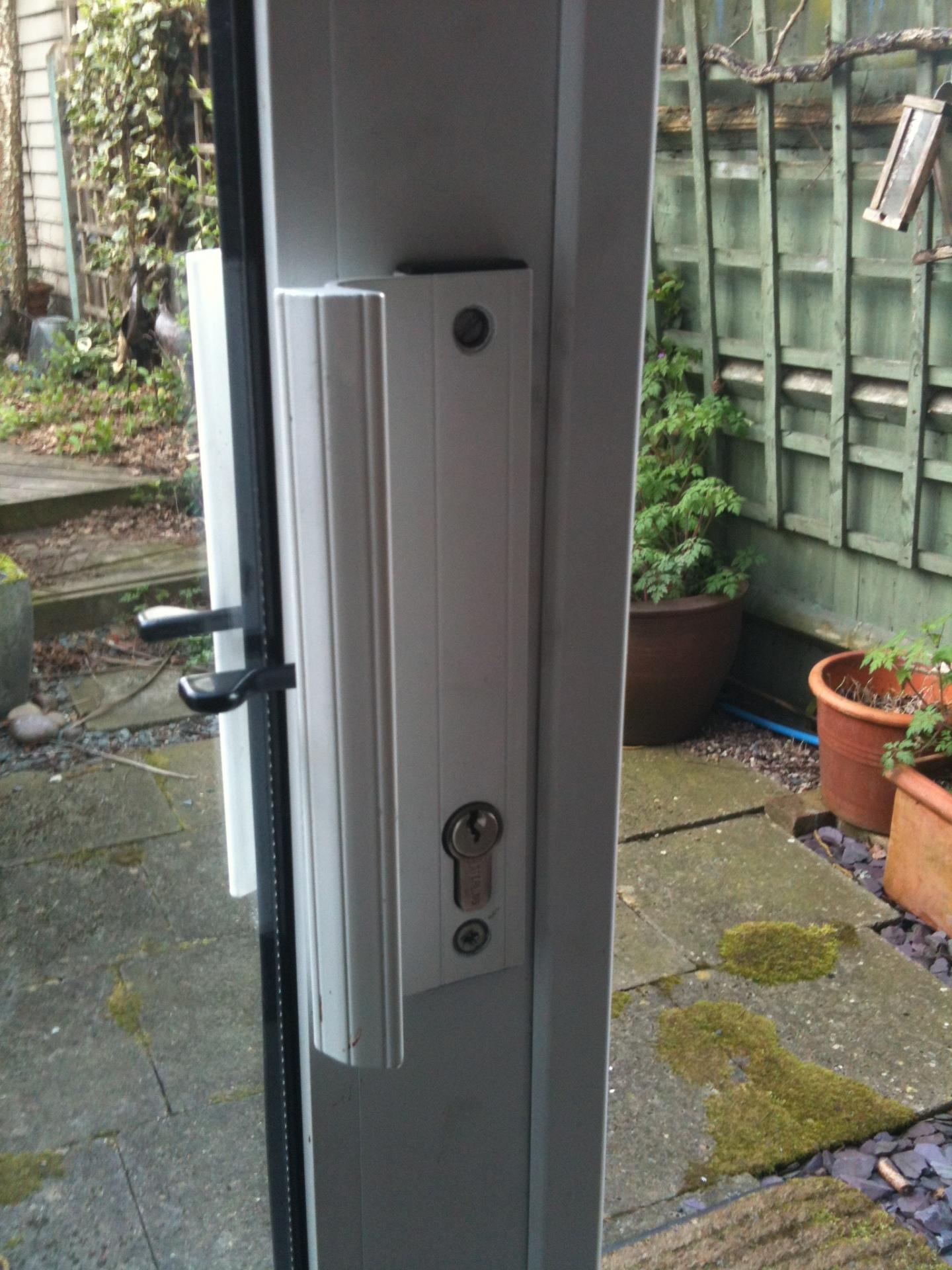 Sliding patio door lock