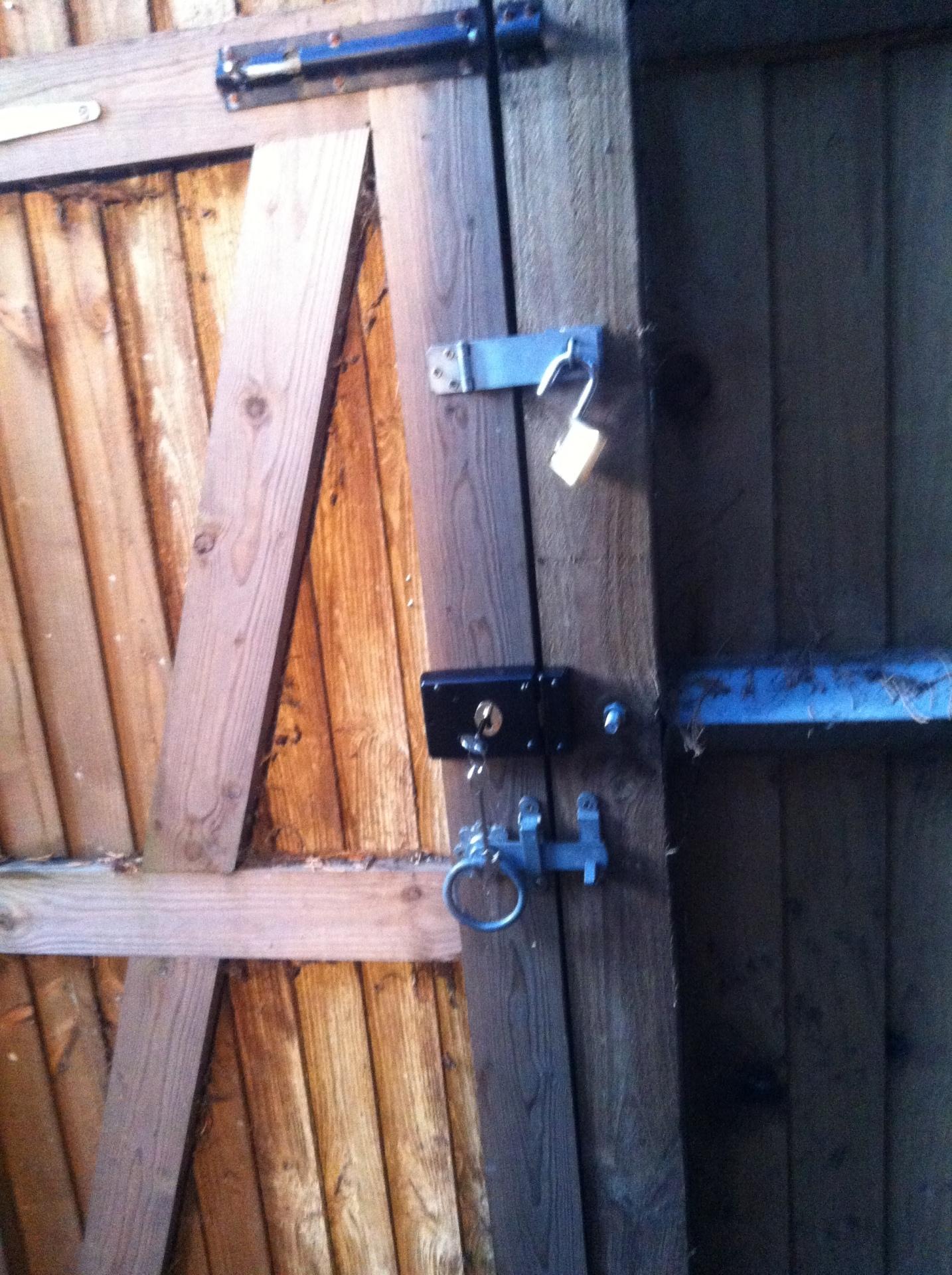 Garden gate lock