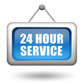 24hr service sign