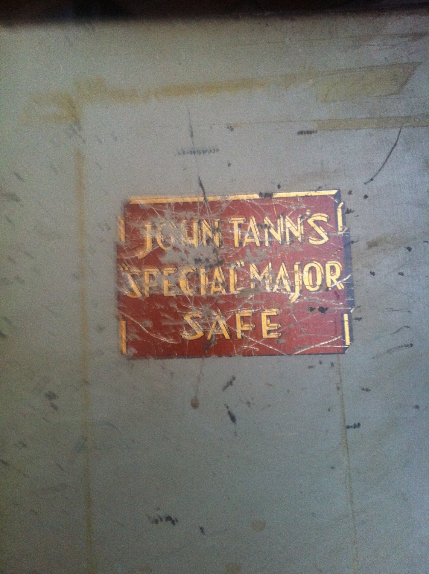 John Tann Safe Label