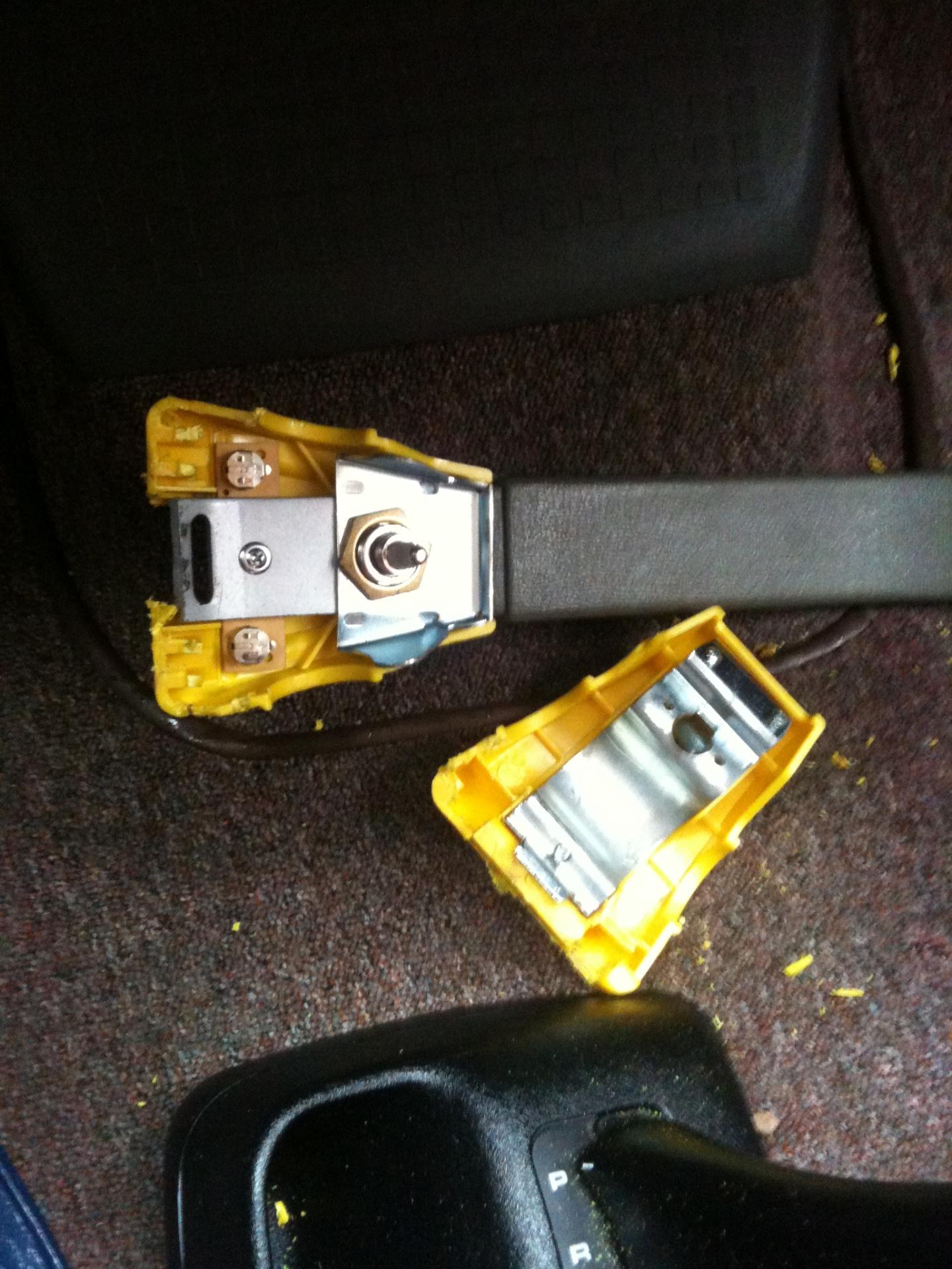Steering Lock Removed