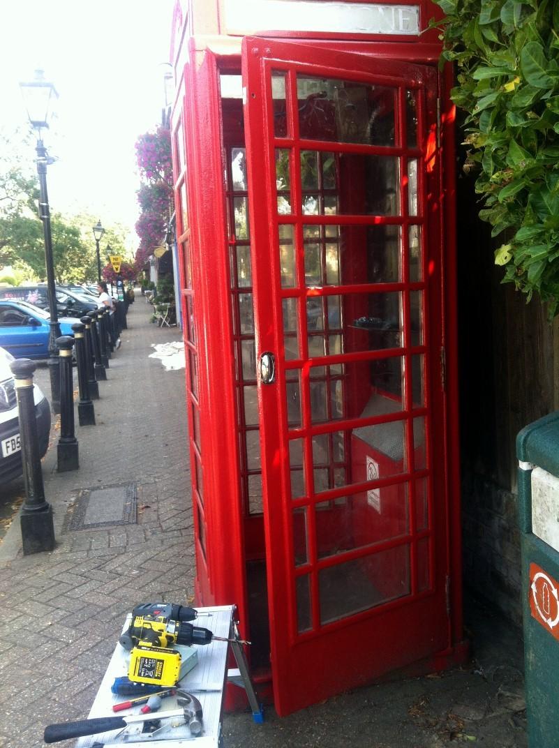 Phone box lock