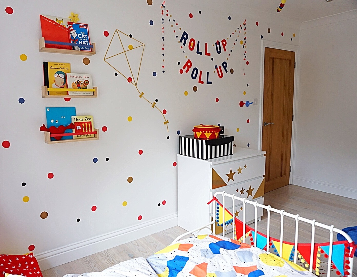 circus themed kids bedroom