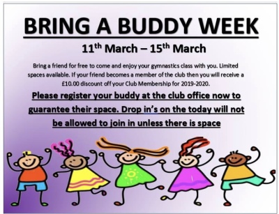 Bring a buddy week!