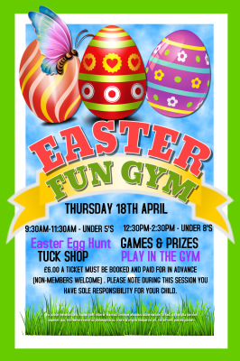 Easter Activites and Easter FunGym 2019