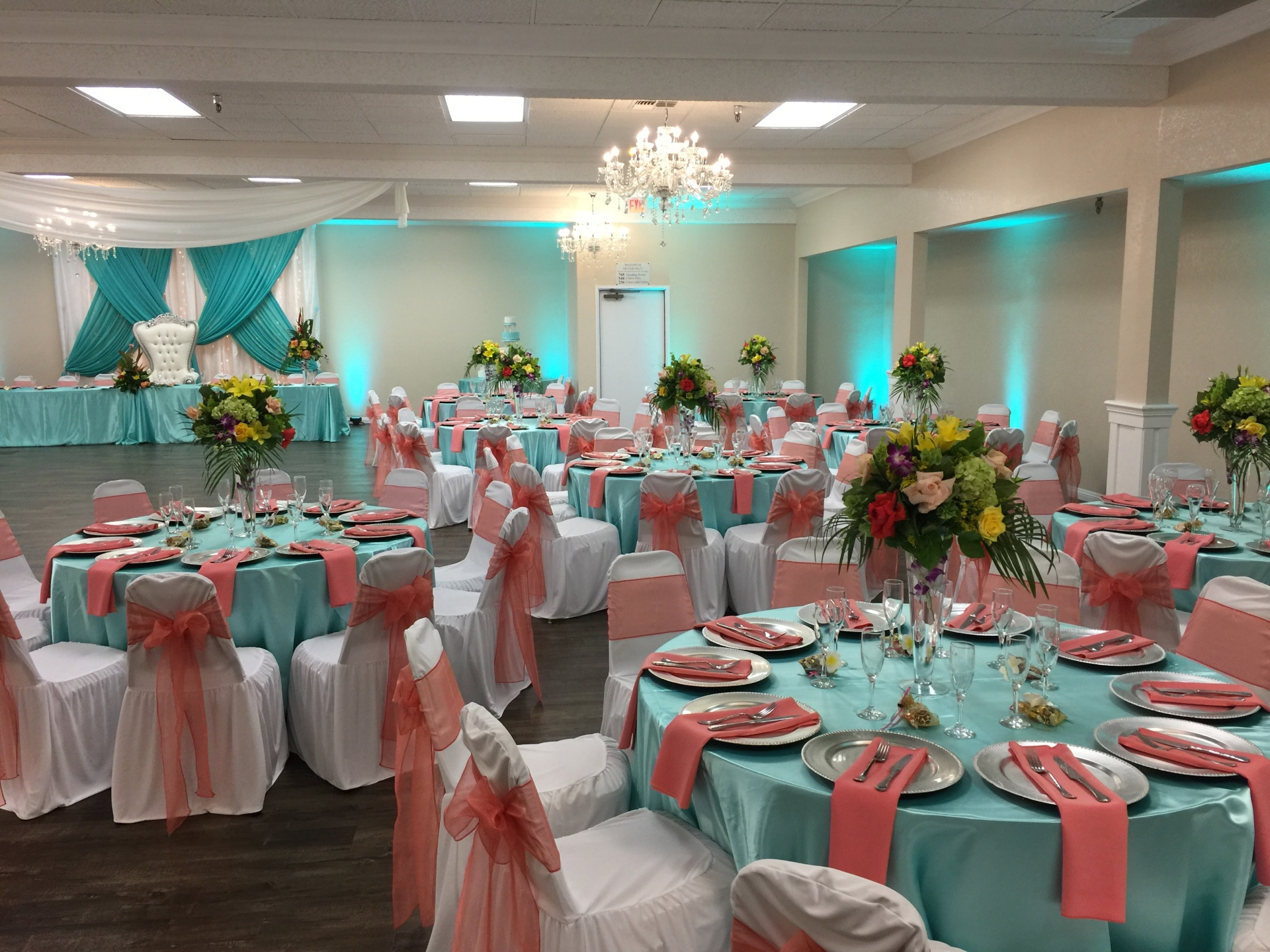 blossom banquet center theme design