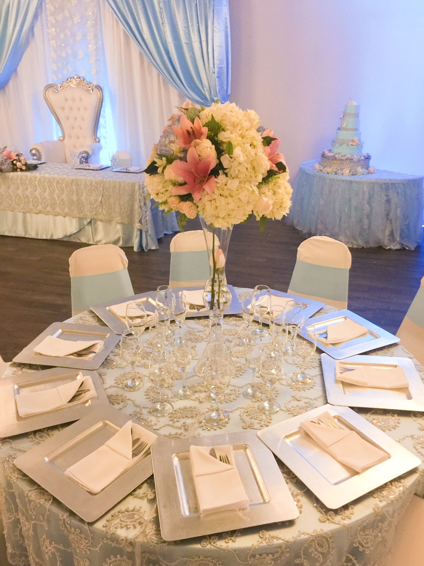 Periwinkle Table Set ups