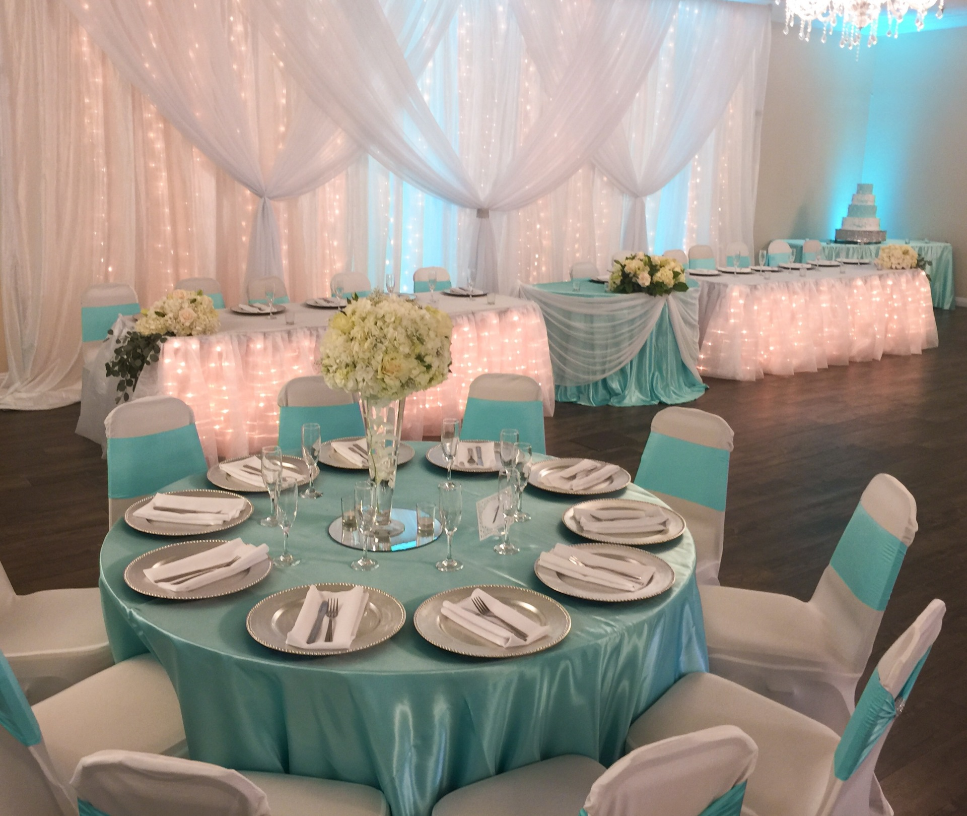 Tiffany Themed Set up