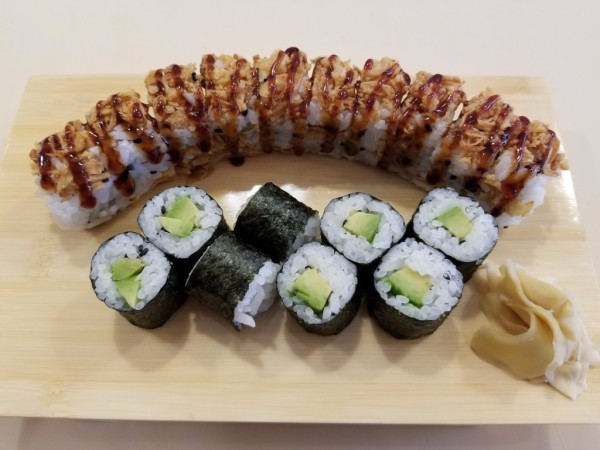 (Up) Crunch Onion Roll (Down) Avocado Roll