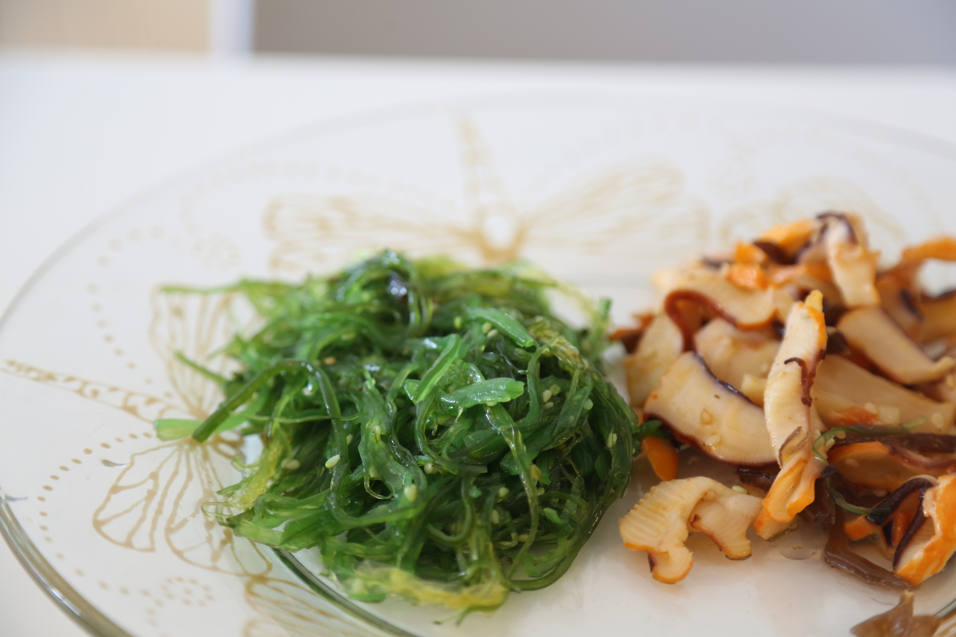 Seaweed Salad,Squid Salad