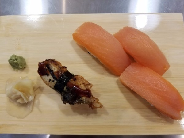 Unagi Nigiri, Salmon Nigiri