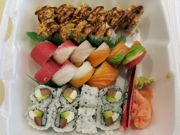 Crunch Onion, Rainbow,Philadelphia Roll