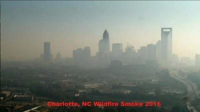 Charlotte, NC Wildfire Smoke - November 2016