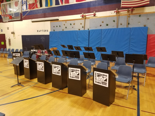 Jazz Band set up and ready to go