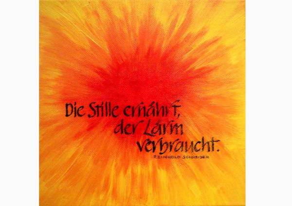 Calligraphy on canvas by Michaela Seidl
