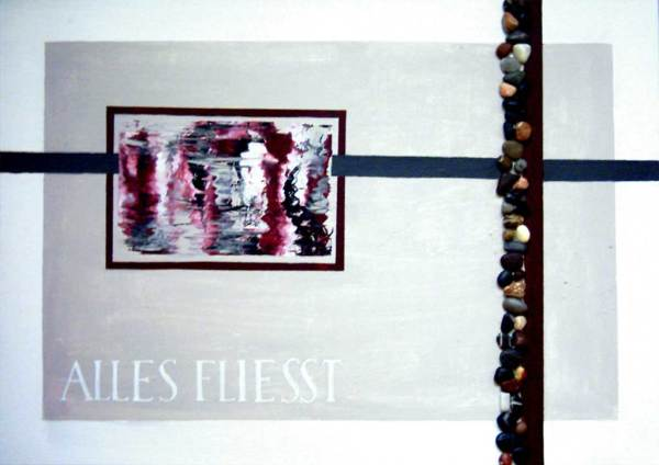 3 piece calligraphy on canvas by Michaela Seidl