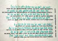 Calligraphy on paper, quote, William Butler Yeats, by Michaela Seidl