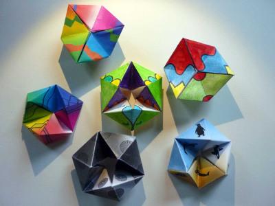 Fun Stuff - colorful flextangles on seidlart by Michaela Seidl