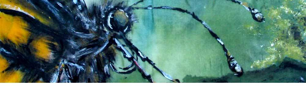 Banner Silk work on seidlart by Michaela Seidl