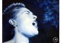Pencil drawing of Billie Holiday by Michaela Seidl