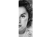 Pencil drawing of Ingrid Bergman by Michaela Seidl