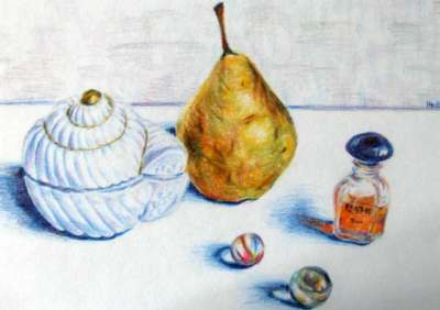 Still Life in category drawing - colored pencil drawing on seidlart.com by Michaela Seidl