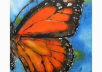 Butterfly, silk painting by Michaela Seidl