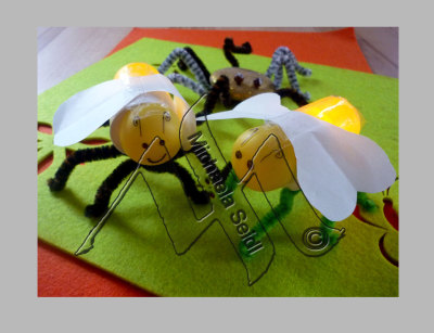 Fireflies, surprise eggs with led tea lights