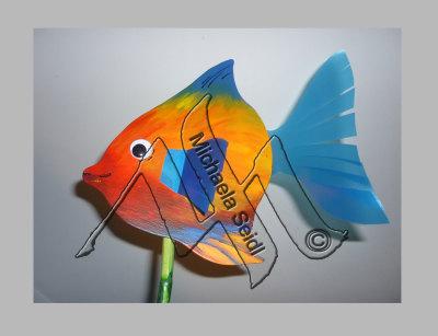 Jigsaw work, fish