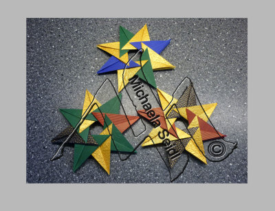 Origami Stars for Christmas