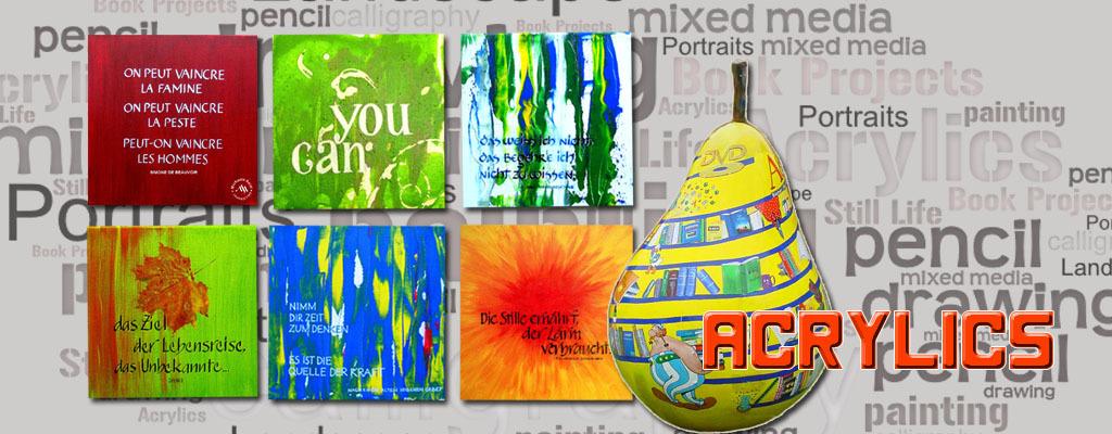 Banner acrylic paintings on seidlart by Michaela Seidl