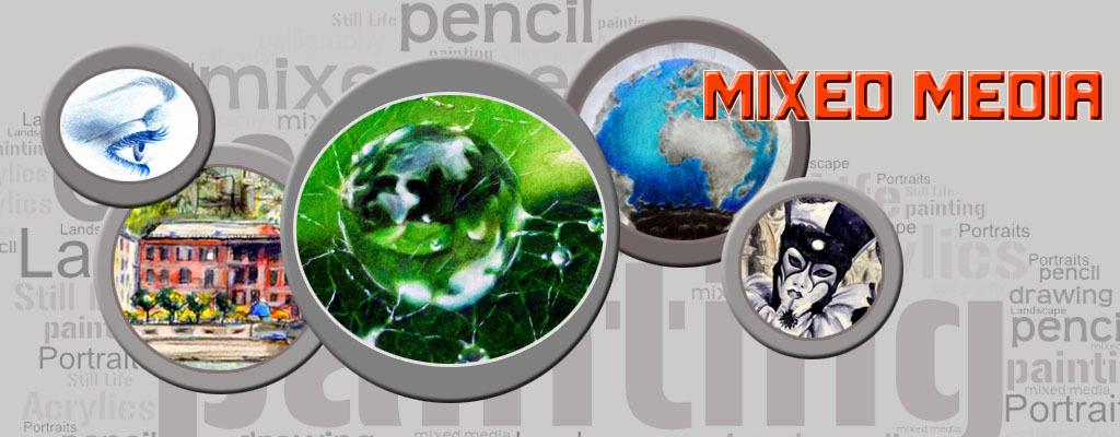Banner mixed media works on seidlart by Michaela Seidl