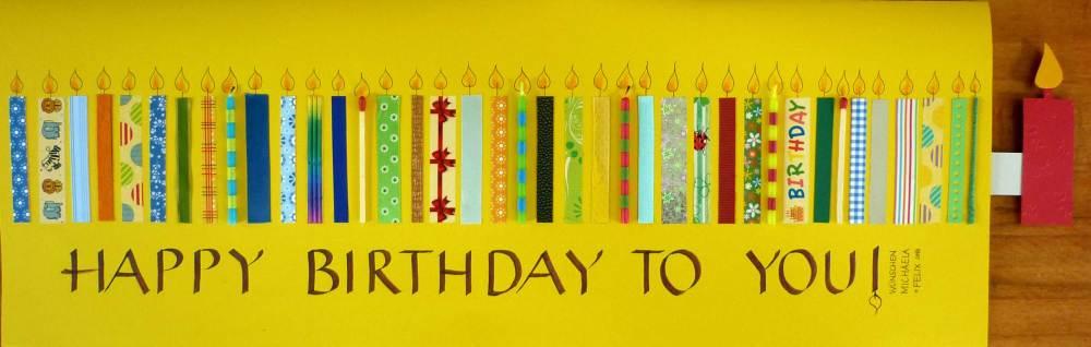 Birthday Card X-Large - handwritten greeting card on seidlart.com by Michaela Seidl