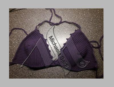 Crochet, bikini, bra
