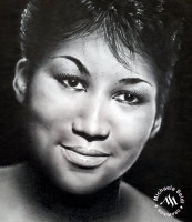Pencil Portrait of Aretha Franklin by Michaela Seidl